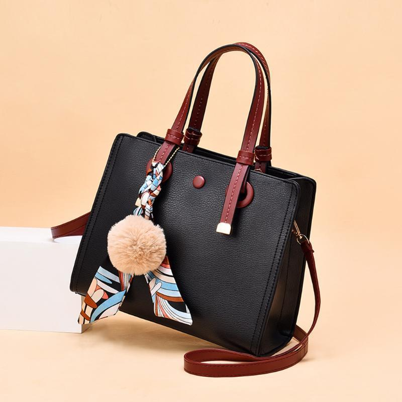 Мода женщин сумка Твердые Женские Pu кожаные сумки Lady Сумки Кошелек Карман Женщины Сумка Большой Tote Sac Bols