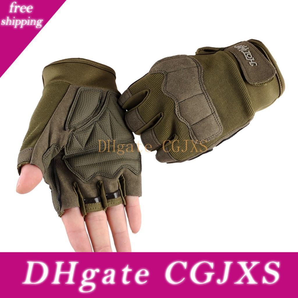 Uomini e mezzo Finger Gloves Tactical Outdoor Sports Alpinismo Corsa guanti moto Sci guanto di guida Guanti Guanto biciclette