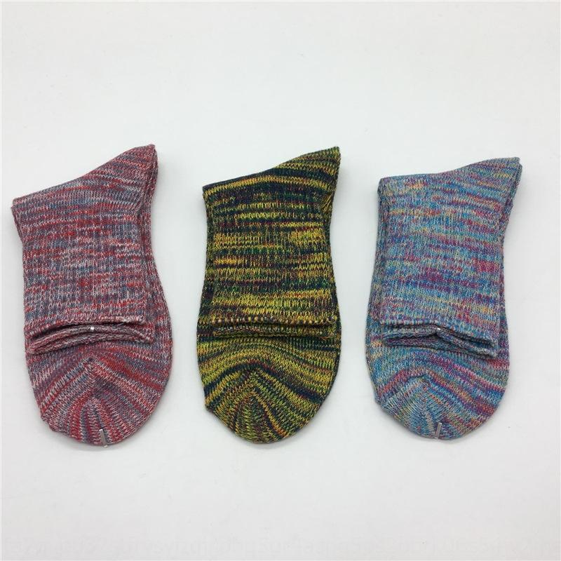 linea parallela calze di cotone filo di seta ago grosso filo di seta di colore 5BozZ uomini stile mid-Tube degli uomini alla moda casuali cotone calzini sudare-Abso