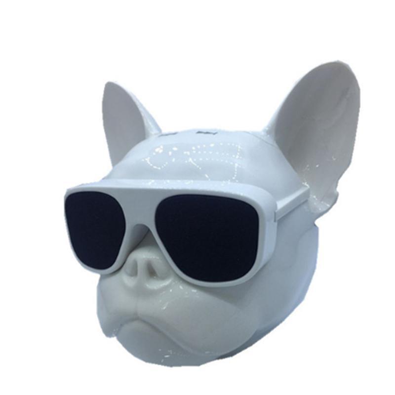 2020 nueva llegada del dogo del ordenador tarjeta de radio Altavoz Bluetooth Cabeza de perro de audio móvil subwoofer regalo de la música del jugador de novia