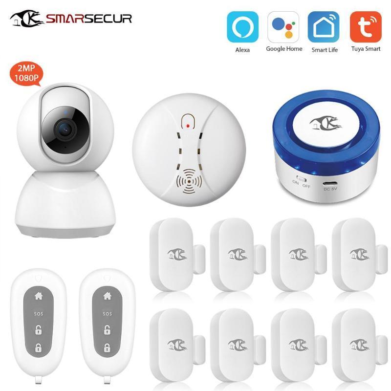 Alarm Sistemleri Tuya Güvenlik Sistemi Siren Akıllı Hayat App Kontrolü Alexa IP Kamera ile Uyumlu