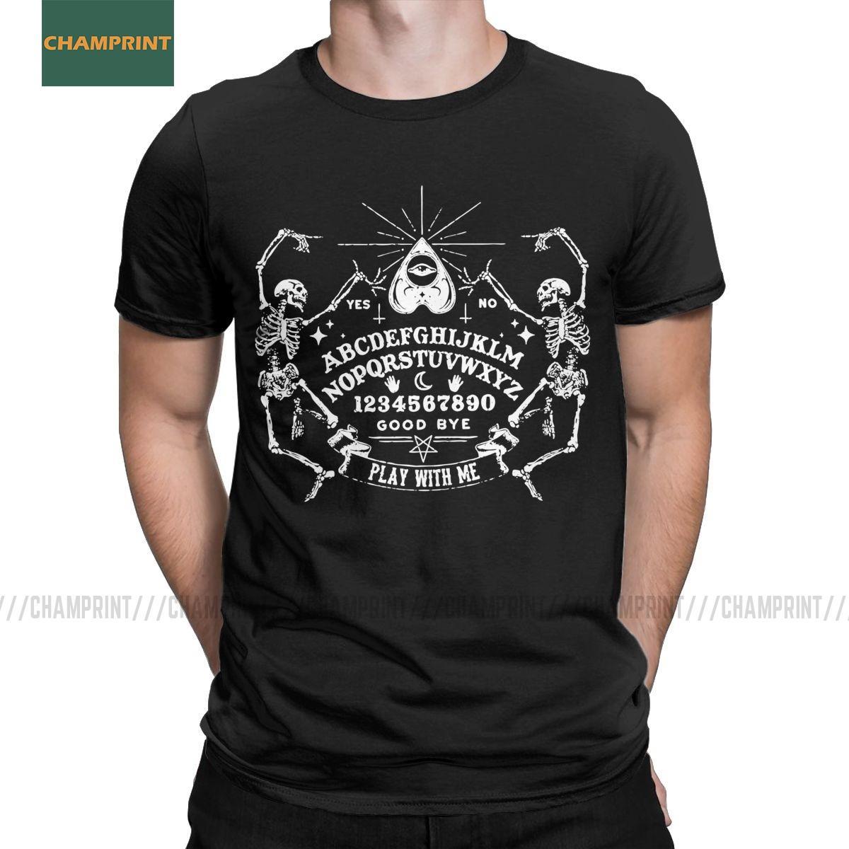 T-shirt Gioca con la manica corta Me Ouija Board Cotone Tees Strega Spirito Creepy Male Paranormale Morto T shirt girocollo Top