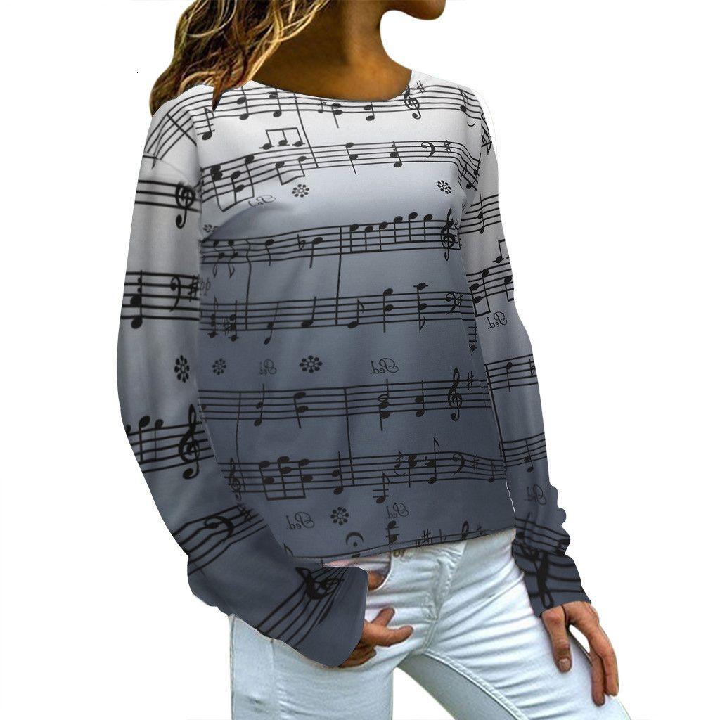 Herbst Printed Pullover Frauen nehmen passende beiläufige Sweatshirts Tops Teen Girls O-ne Hoodies Langarm Sport Pullover Bluse