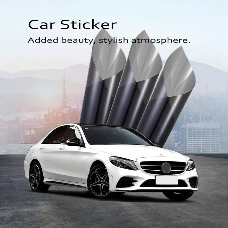 Автомобиль Sunshade темно-серые оконные фольги Солнечная защитная пленка УФ 99% Автооткрытие боковых оттенков 0.5x3m / 0,75x3m