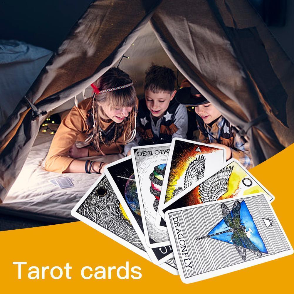 Партия Качество Таро Высокой игра серия Game Card Таинственный английский семьи 63pcs животное Deck Совет Нового Oracle Дух карта qLNWg mylovethome