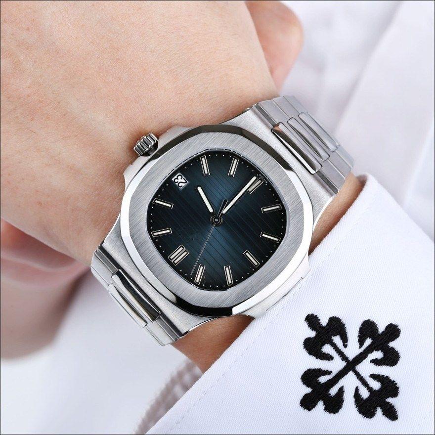 PATEK PHILIPPE 9 Art Art und Weise Qualitäts GMT Uhr Classic 40mm PP Nautilus 5711 / 1A 010 Transparent Herren Mechanische Automatik Herren Herren Watc vt8S #