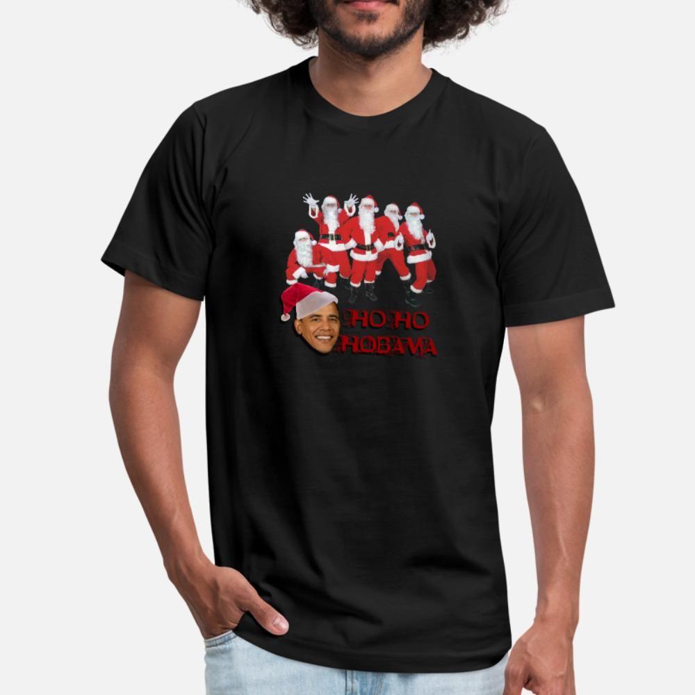 Ho Ho Ho Bama t shirt homens camisa impressão Carta Padrão louco camiseta S-3xl New Style Primavera Outono