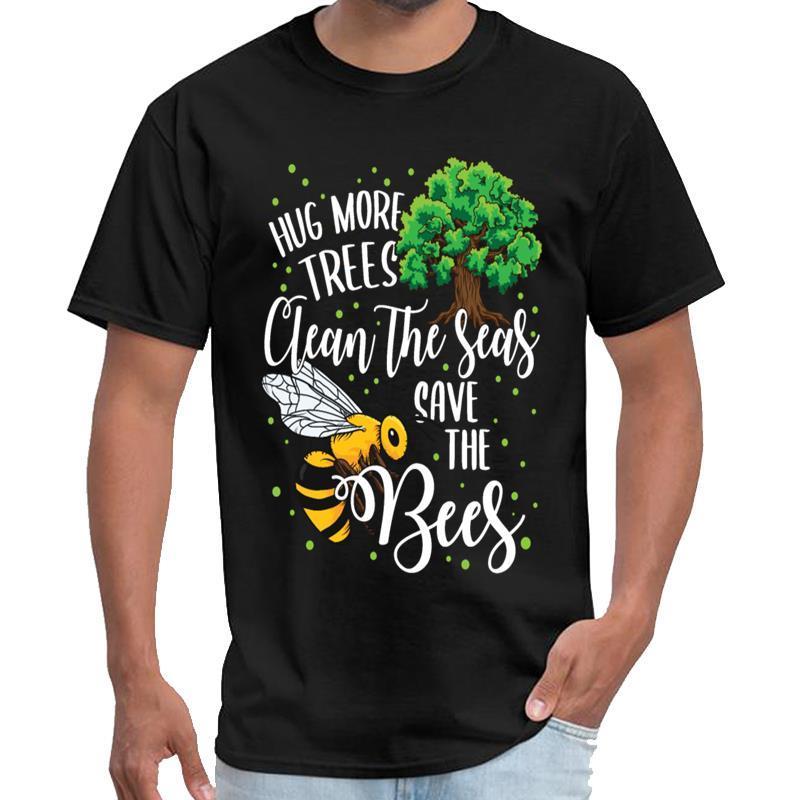 Las abejas de la vendimia Más Abrazo árboles limpian nuestros mares ahorre las abejas mar de las mujeres tv oficina de ladrones t cadera camisa de gran tamaño s hop ~ 5xL