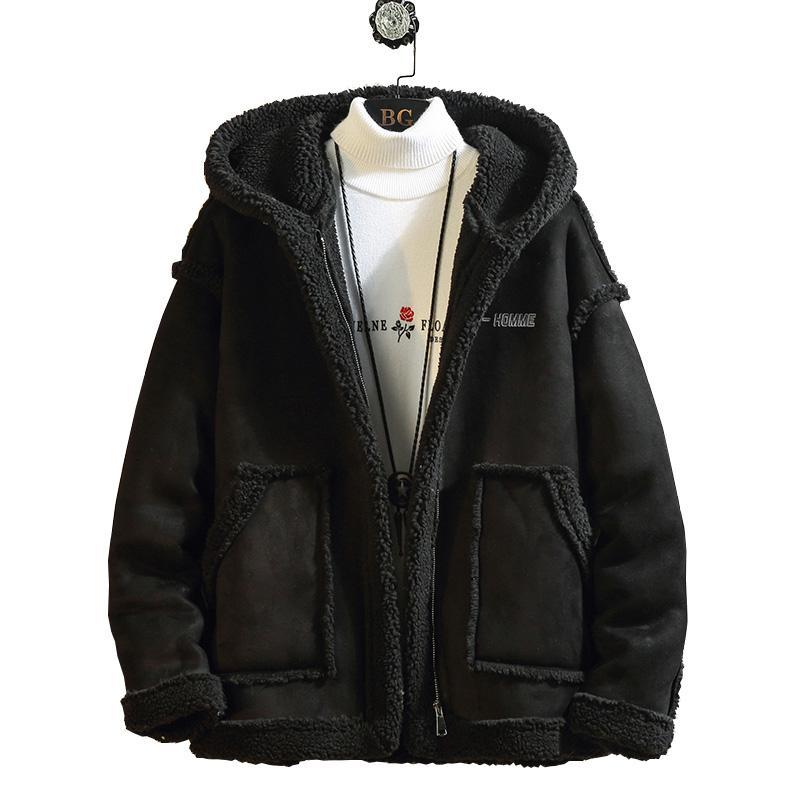 Nuevo 2020 Hombres chaqueta abrigos espesa la chaqueta caliente del invierno a prueba de viento chaquetas para hombre Casual cachemira Parka con capucha de algodón acolchado Outwear
