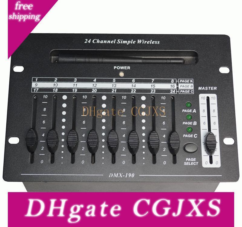 Envío libre de RoHS del CE de la alta calidad de China Mini controlador DMX Negro 2 .4G Receptor inalámbrico DMX512