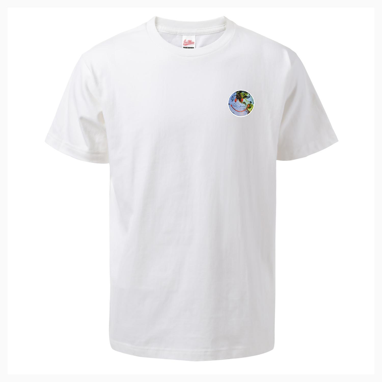 Été Nouveau T-shirt pour les hommes de la Terre Sourire protection de l'environnement Hommes manches courtes T Mode Casual T-shirts Coton Tops O-Neck Shirt