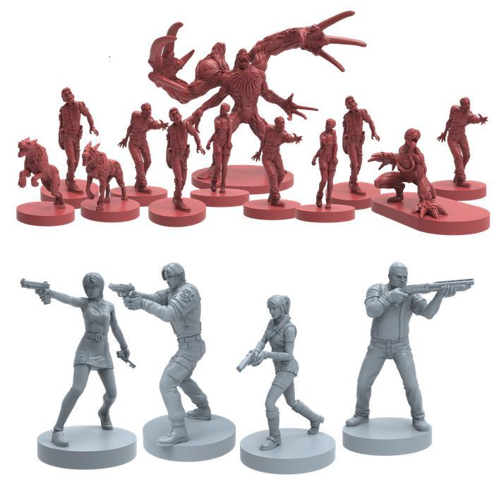 1:72 Escala de fundición a presión de la resina a granel genuino juego de mesa modelo bioquímico crisis de Jiang zombi superviviente del héroe
