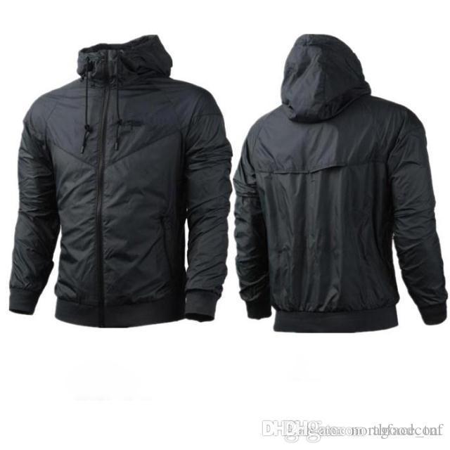 O envio gratuito de queda fina Windrunner Homens Mulheres sportswear alta qualidade impermeável tecido Men jaqueta esporte Moda Hoodie do Zipper Moletons