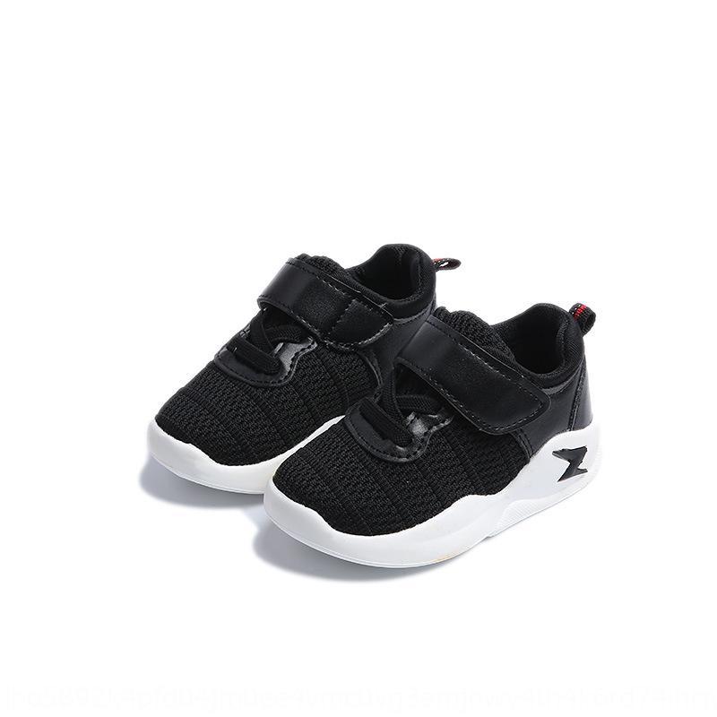 2019 nueva primavera aviación deportiva zapatillas de deporte de los zapatos de malla transpirable niños y niñas de los zapatos de bebé de los niños de los niños tejen