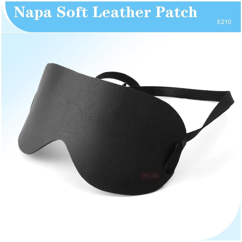 Black Napa Soft Leather Eye Patch Harness Blind Eyepatch Fetish Bondage Head Mask Adult SM Restraint Roleplay Game Sex Toys