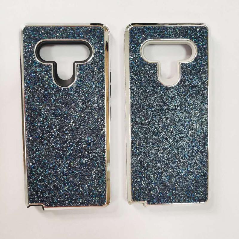 Casos Bling Glitter Protetora para LG K52 Stylo7 Stylo6 Aristo5 Aristo6 TPU + PC 2 em 1 tampa traseira oppbags