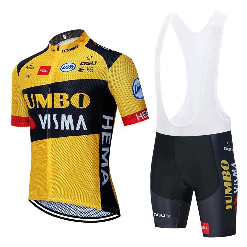 2020 جديد jumbo visma الدراجات فريق جيرسي 20d الدراجة السراويل دعوى روبا ciclismo رجل الصيف برو دراجة مايلوت السراويل