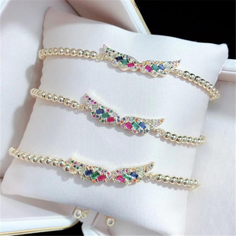 10pcs / lot ottone alta qualità del braccialetto della CZ Ala Moda gioielli braccialetto regolabile