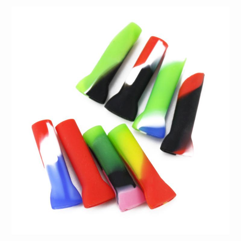 Filtro de pontas de silicone para a seco Herb Tobacco Papeles com piteira Grosso Pyrex Vidro Plano Boca Filtro Dicas Doces Embalagem