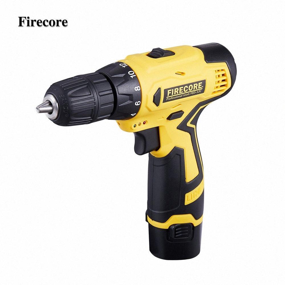 FireCore 12 V destornillador eléctrico inalámbrico mini taladro recargable de litio batería eléctrica Broca 2-Power Speed Display 11ME #
