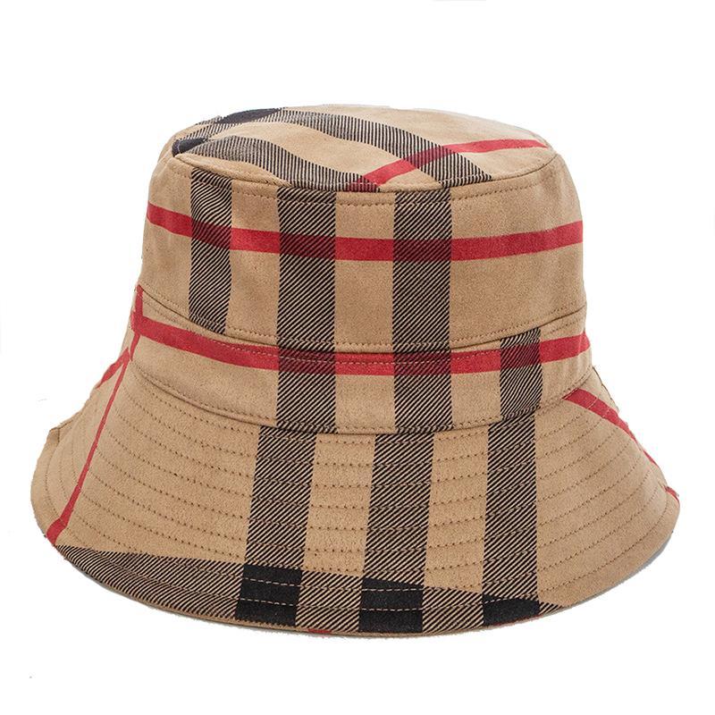 Осень и зима новых женщин полосы мода теплого Зонта рыбак шляпа замша бассейн шляпа случайная складная термический