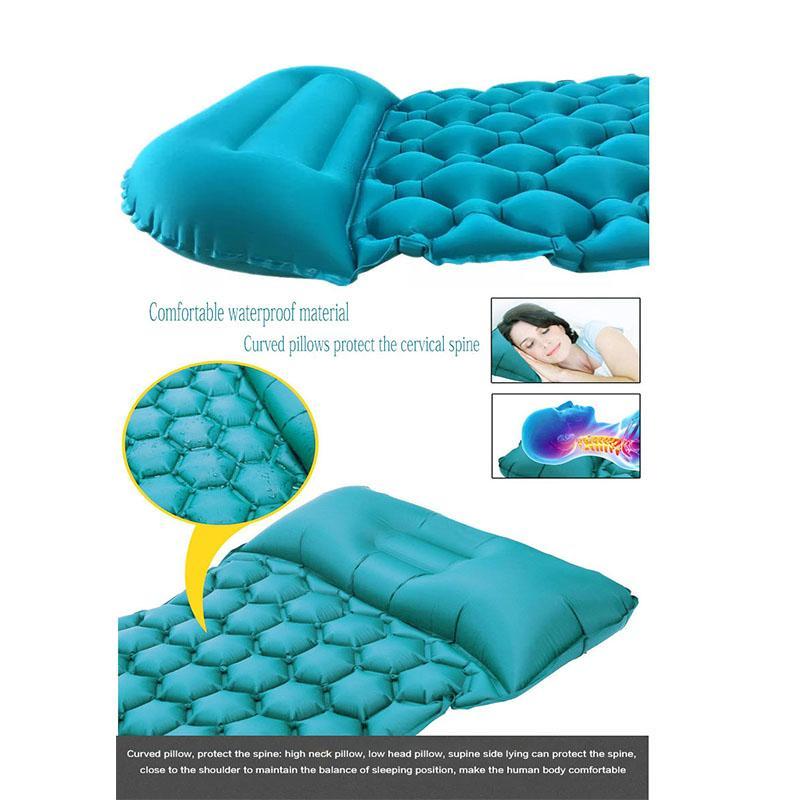 في الهواء الطلق TPU خفيفة جدا النوم حصيرة النايلون سرير قابل للنفخ خيمة التخييم مع وسادة moisturepro احد من فراش سيارة