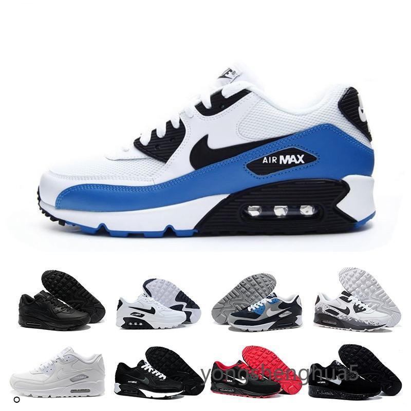 nike air max 90 90s airmax Alta calidad 2019 del amortiguador de aire 90 zapatos corrientes ocasionales Negro blanco barato rojas 90 vbb1q mujeres de los hombres zapatillas de
