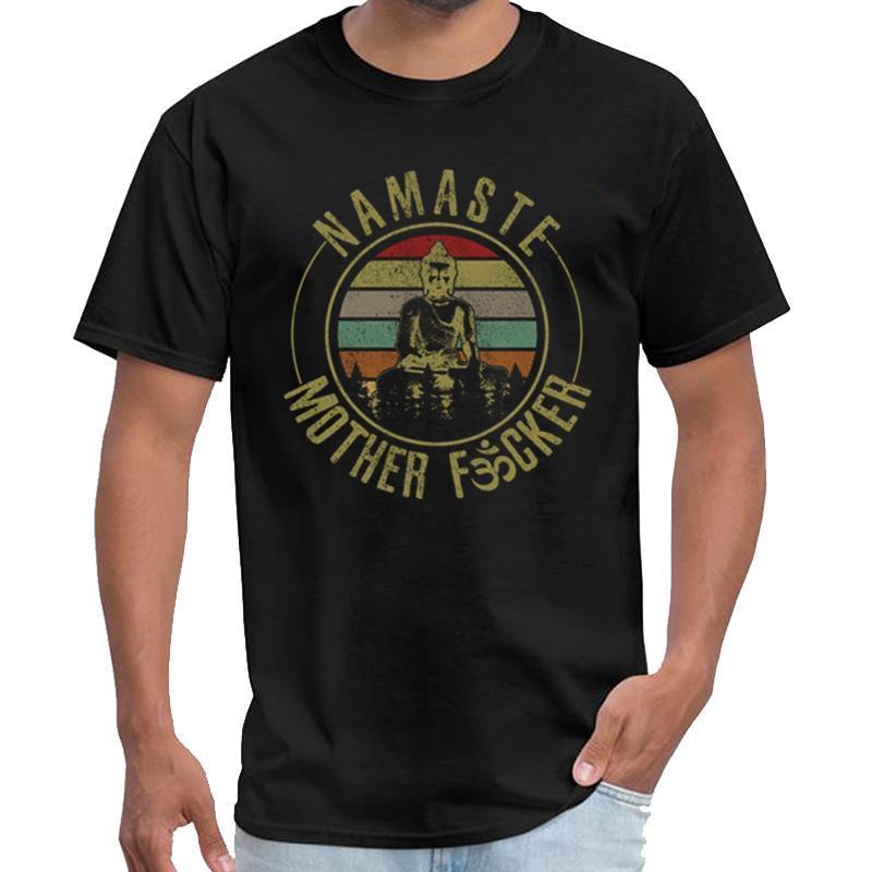 Customized Namaste Mother Fucker - Lustige Vintage-Yoga-Geschenk der Weeknd T-Shirt der Männer die Casa de Papel T Shirt plus Größen S-5XL hallo