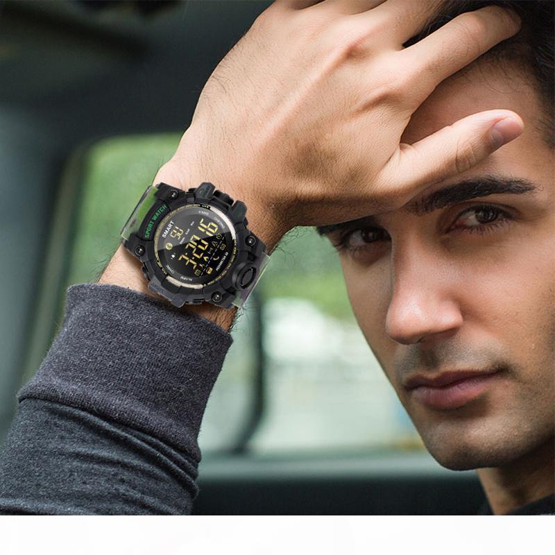 Gagafeel Ex16s Bluetooth Smart Watch ВОЕННОСЛУЖАЩЕГО Спорт Фитнес Часы камуфляж зеленый Tpu ремешок Открытый водонепроницаемые часы Y19051
