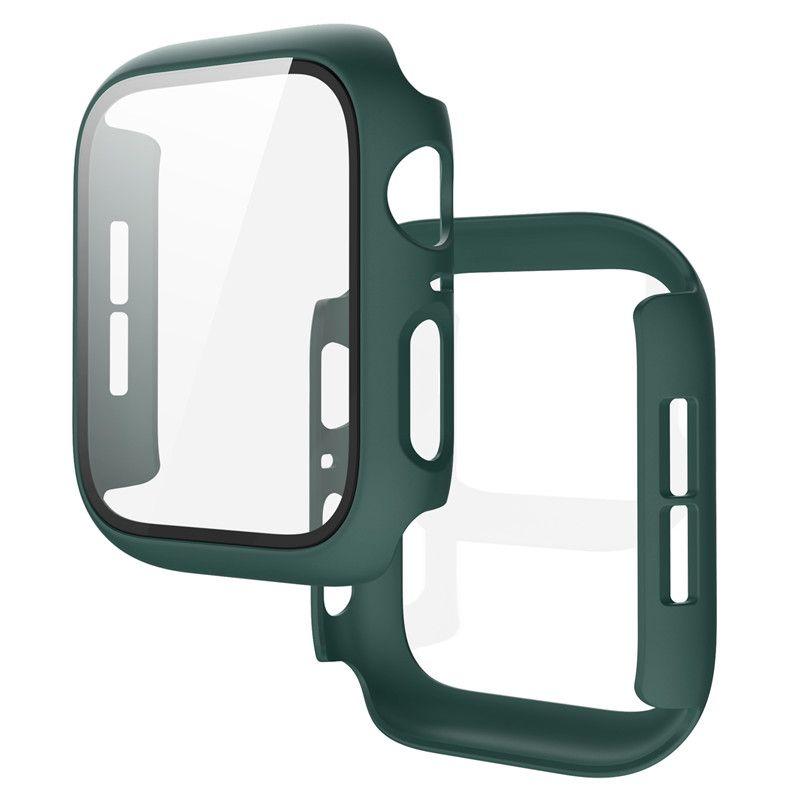 PC + Cas 5 Protecteur d'écran en verre Film trempé pour la bande Apple SE 6 Protecteur 40mm 4 38mm 42mm Montre 44mm PMBGL