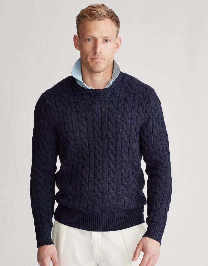 2020 New PP52521 Männer-Winter-warme Strickpullover beiläufige Pullover O- Ansatz lange Hülsen-dünner Top Men Casual Cotton Herbst Männer Pullover