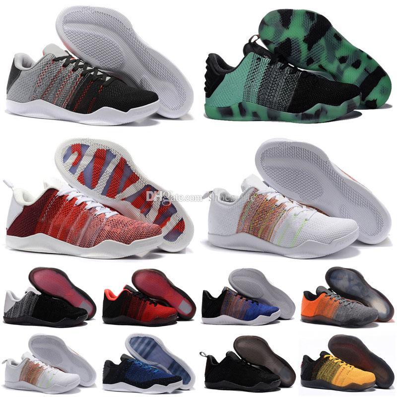 2020 New Black Mamba 11 Elite Low FTB Männer Basketball-Schuhe Bruce Lee BHM Red Horse 11s 4-KB-Sport-Turnschuhe Größe 7-12