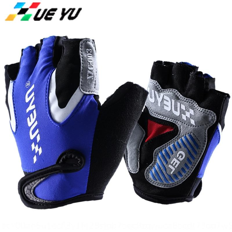 uomini di estate e brevi passeggiate a dito copertura biciclette Maglia a manica all'aperto metà bicicletta i guanti guanti di sport
