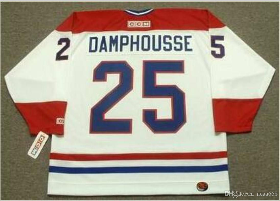 Custom Men Youth women Vintage #25 VINCENT DAMPHOUSSE Montreal Canadiens 1993 CCM Hockey Jersey Size S-5XL or custom any name or number