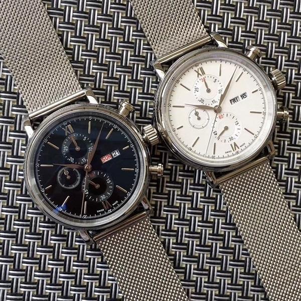 2020 SICAK Lüks İzle Chronograph Watch Paslanmaz Çelik Japon OS Kuvars Hareketi Spor Erkek Erkek İzle Saatler Kol