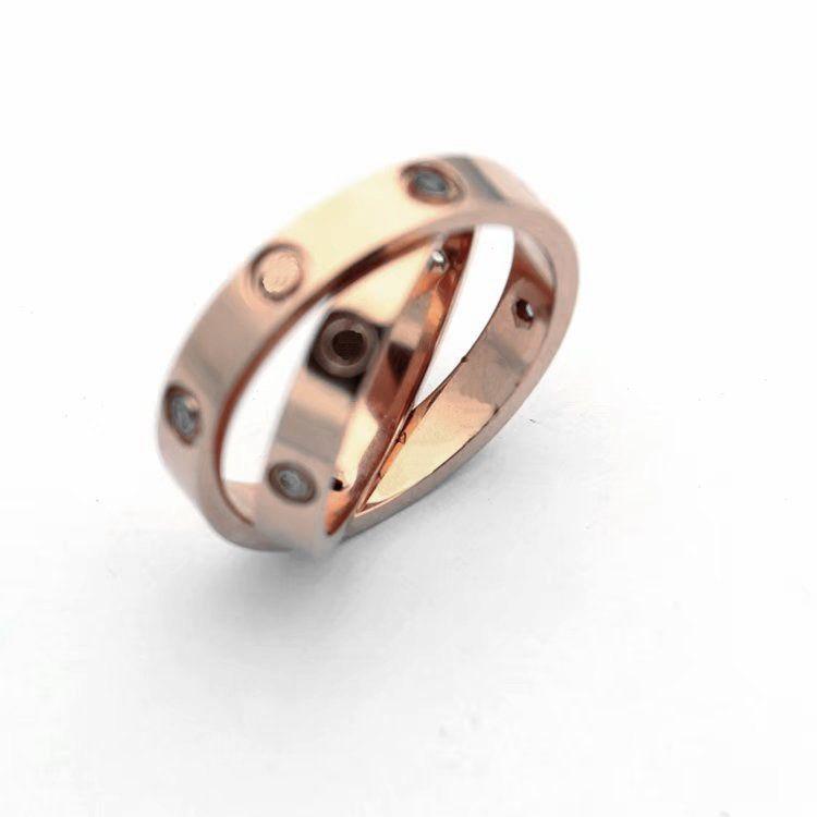 A Classic Fashion 18K Titanium Steel Ring Wide Version Narrow Version N