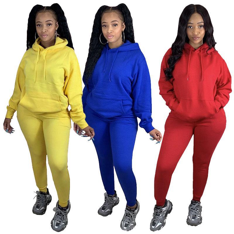 Women Tracksuits Autumn Hoodies Pants Sets Ladies Two Piece Suits Long Sleeve Sports Running Set Female Sweatshirts Leggings 050827
