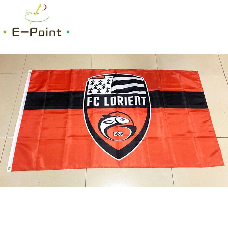 Флаг Франции Лорьян 3 * 5 футов (90см * 150см) Полиэстер флаг Баннер украшение летающий флаг дома сад Праздничные подарки