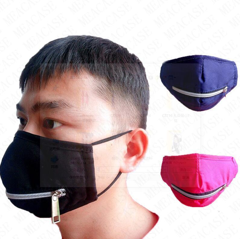 Пейте Zipper Face Mask моющегося Поесть в общественной Маске Zip Solid Color Печати задействуя Mouth крышка шарф Бутики Хлопок D71508 продажи