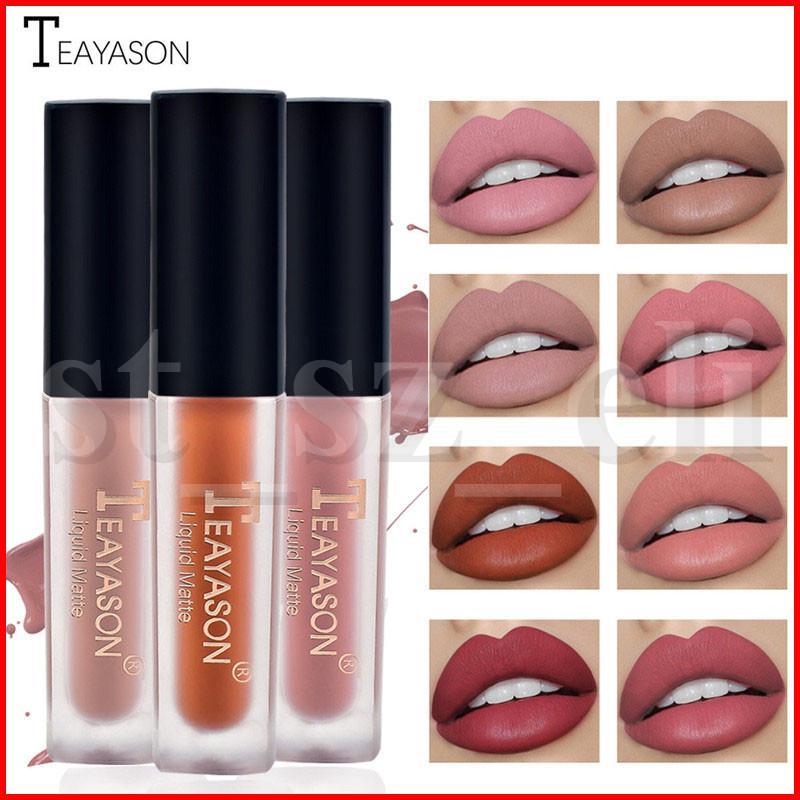Teayason Lip Makeup Liquid Lipstick Lip gloss Lipgloss Nude Matte Velvet Natural Moisturizer Lip Glosses 12 Colors