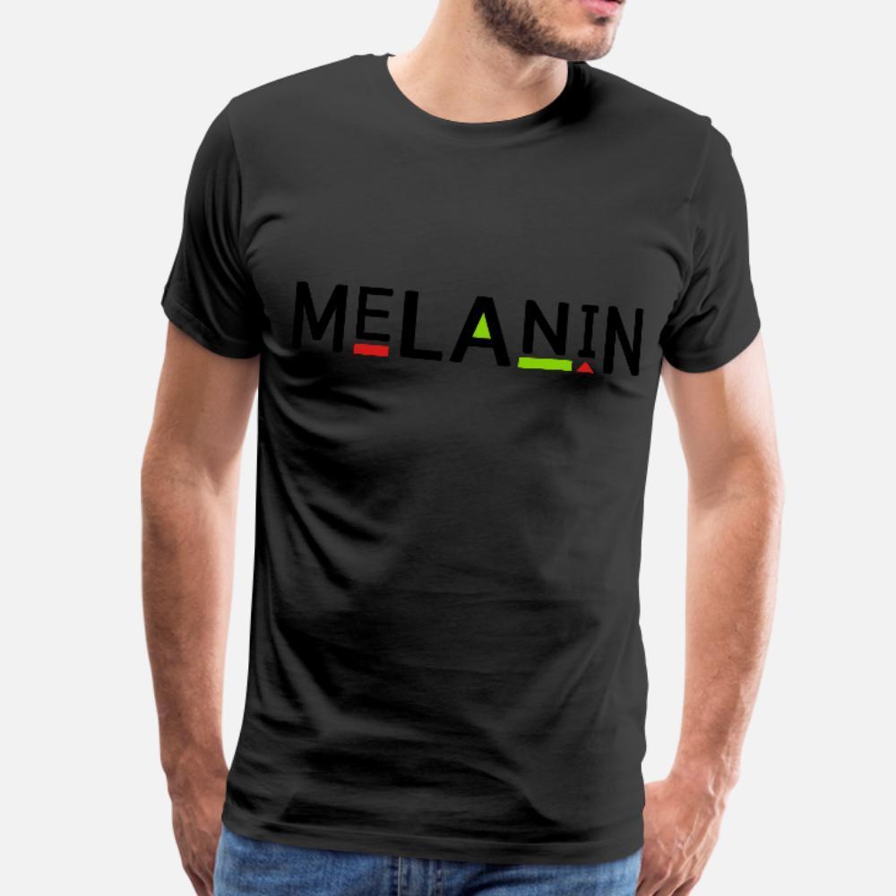 Komik Yaz Stili Doğal gömlek Ilginç melanin t gömlek erkekler Özelleştirme Kısa Kollu boyut S-3XL Giyim