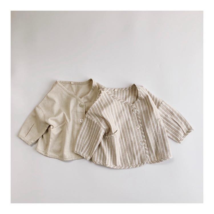 HX Qaulity Great New INS Осень Дети Маленькие Мальчики Девочки Пальто белье хлопок куртки Карманы спереди Осень Детская одежда Outwears Coat