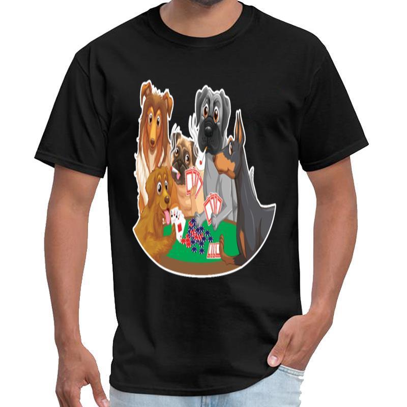t gömlek erkekler ve kadınlar gömlek t büyük beden s ~ 5XL üst tee suçlunun Poker Kart Turnuvası hafta sonu Köpek Özelleştirilmiş