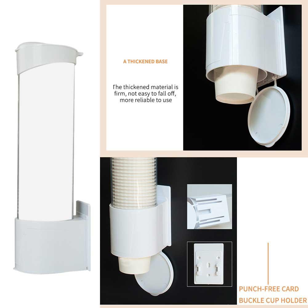 ABS Home Office Storage Rack Papierbecherspender Hotels Automatische Wand befestigter