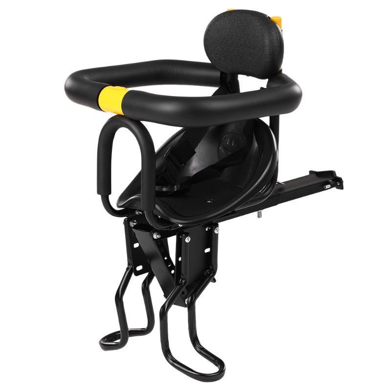 Bébé Enfants Enfants Vélo Sécurité Sièges vélo avant bébé Siège enfant Selle avec pied Pédales Support Retour Reste pour le VTT Vélo de route