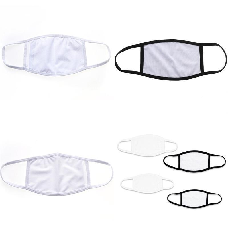 Contour d'oreille pliable Sublimation Blanks Visage Masque de protection anti-poussière respirateurs Impression vierge Mascarilla tissu adulte enfants