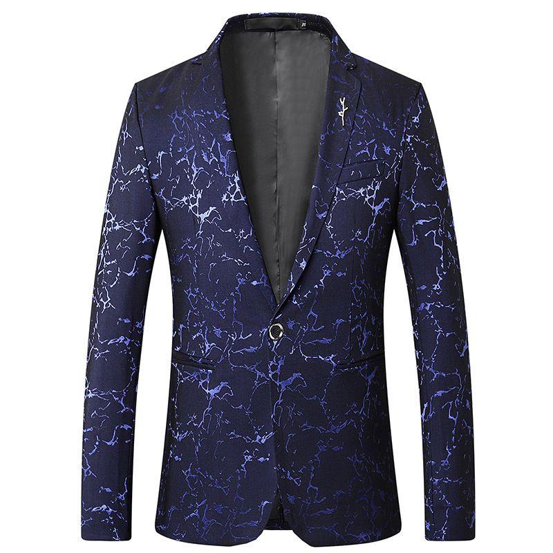 marque Mens Slim Fit Blazer en coton Slim Masculino Business Casual Mens Blazer élégant Printemps Automne dropshipping top coat