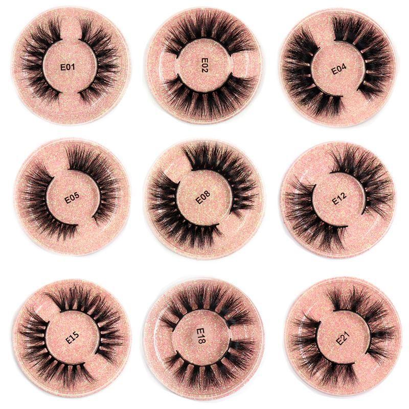 SOQOZ Mink pestañas 3D Mink pestañas naturales postizas pestañas entrecruzado Falso maquillaje pestañas de extensión de pestañas para la belleza