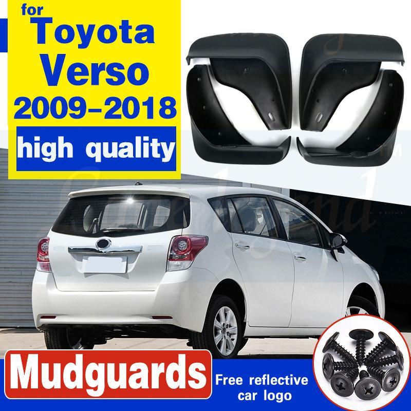 Set Auto-Schmutzfängern für Toyota Verso 2009-2018 Mudflaps Spritzschutz Schmutzfänger Kotflügel Fender 2010 2011 2012 2013 2014 2015