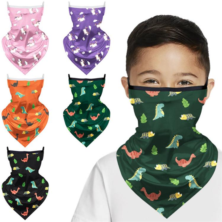 5 color 3D Magic Dinosaur bandana Kids Washable Protection Headwear Magic Scarf Outdoor Multifunctional Running Bicycle scarf AJJ689
